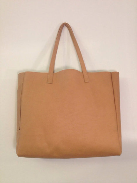 Peanut Butter Leather Tote | TAFT: Trends And Fashion Timeline | Scoop.it