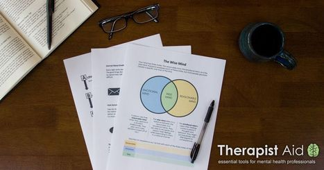 Therapy Worksheets, Tools, and Handouts | Therapist Aid | School Social Work Effectiveness | Scoop.it