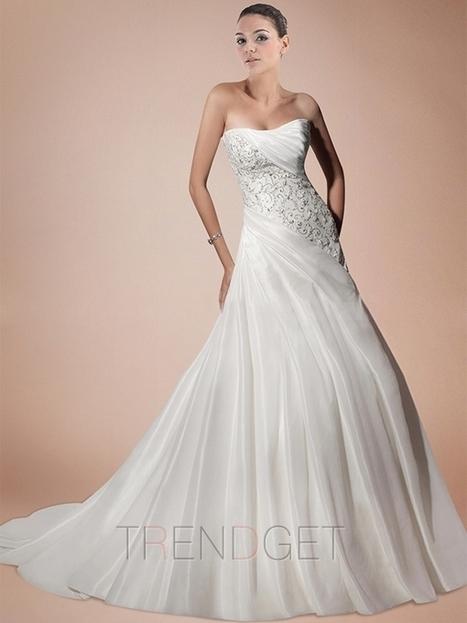 Latest Strapless A-line Princess Floor-length Wedding Dresses $182.99 - Trendsget.com   Wedding   Scoop.it