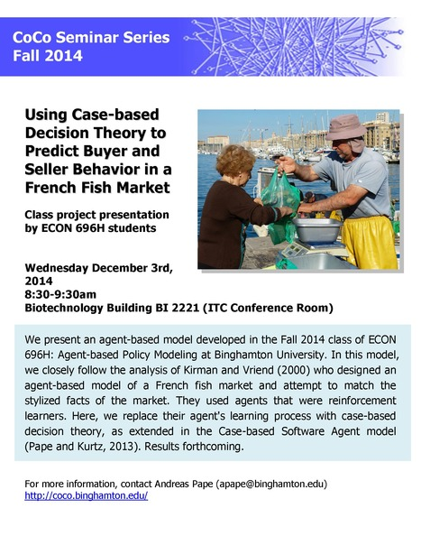 Final CoCo seminar of Fall 2014: ECON 696H class presentation on December 3rd | Center for Collective Dynamics of Complex Systems (CoCo) | Scoop.it
