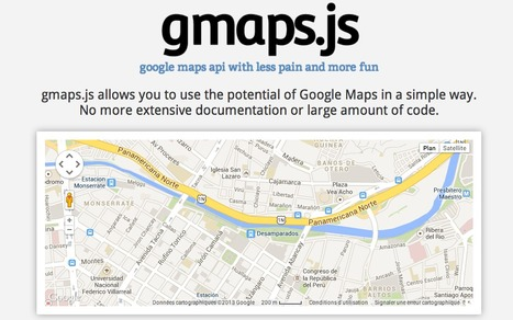 gmaps.js — Google Maps API with less pain and more fun | API's on the web | Scoop.it