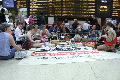 Craftivists held protest stitch-in at railway stations across the UK   Digital Activism   Scoop.it
