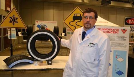 Un pneu qui change de couleur lorsqu'il faut installer les pneus hiver | Sécurité et prévention routière | Scoop.it