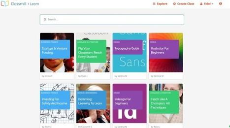 Classmill. Créer des cours en ligne facilement | INFORMATIQUE 2015 | Scoop.it