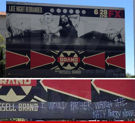 Russell Brand Billboard Vandalized ... Hilariously | Morning Show prep | Scoop.it