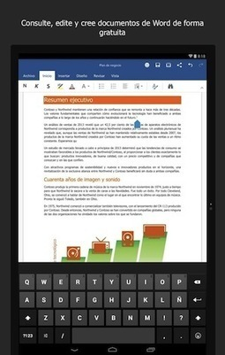 Ya está disponible la versión final y gratuita de Microsoft Office para tablets Android | Aprendizajes Disruptivos | Scoop.it