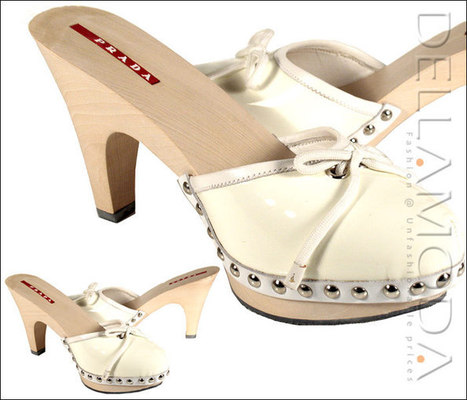 Prada Shoes for Women cream patent leather mules 3Z4033 Bianco | Designer Womens Shoes | Scoop.it