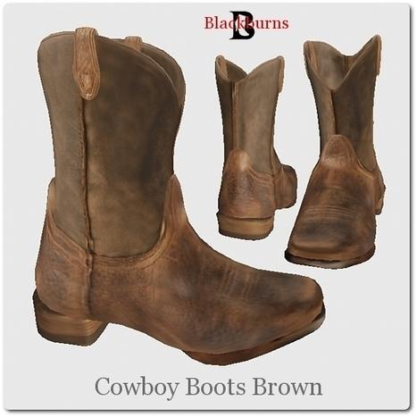 Blackburns Cowboy Boots Brown by Vlad Blackburn | Teleport Hub - Second Life Freebies | Second Life Freebies | Scoop.it