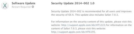Apple Releases OS X Security Update for Mavericks, Mountain Lion, and Lion Users [Mac Blog] | Veille Sécurité Apple | Scoop.it