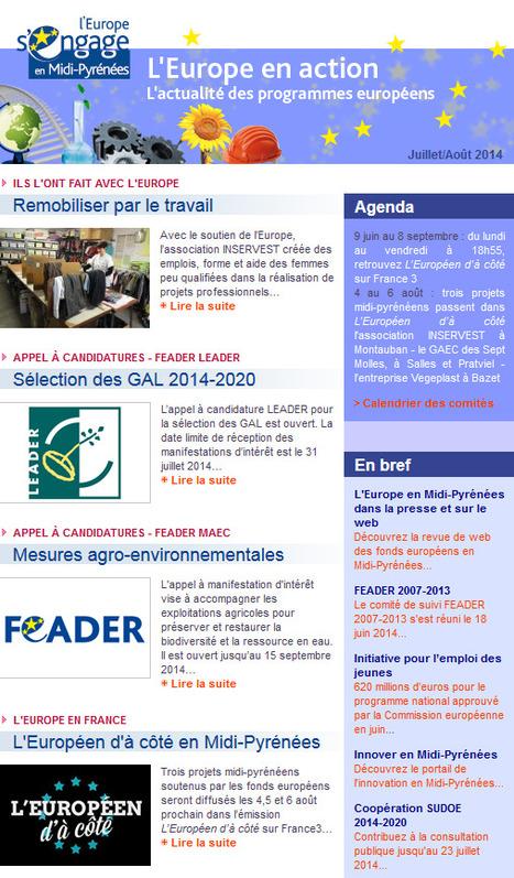 Au sommaire de L'Europe en action en juillet... | Europe en Midi-Pyrénées | Scoop.it