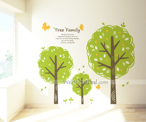 Tree Family With Butterfly Wall Sticker – WallStickerDeal.com   Tree Wall Stickers   Scoop.it