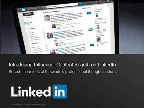 "LinkedIn : ""A New way to search for influencer content 