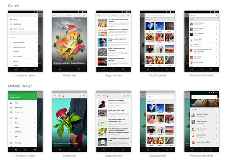 An exploration in Material Design by feedly | UXploration | Scoop.it