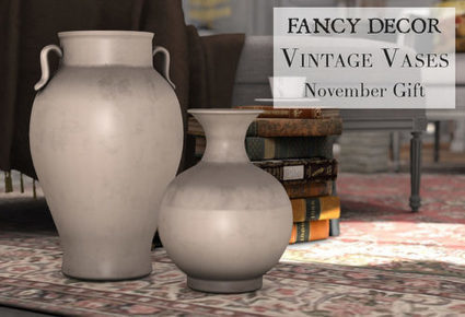 FANCY DECOR – NOVEMBER GROUP GIFT | Second Life Freebies and bargains | Scoop.it