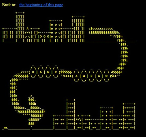 My ascii drawings (by Michele Cerulli MC) | ASCII Art | Scoop.it