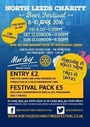 Tweet from @NLeedsBeerFest | North Leeds Charity Beer Festival | Scoop.it