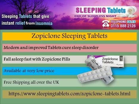 Get rid of insomnia with Zopiclone Pills | Solution of Sleeping Disorder (Insomnia) | Scoop.it