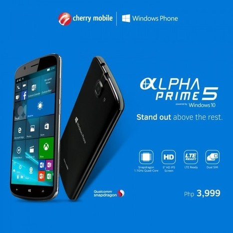 Cherry Mobile Alpha Prime 5 With Windows 10 Now Official at Php3,999 | NoypiGeeks | Philippines' Technology News, Reviews, and How to's | Gadget Reviews | Scoop.it
