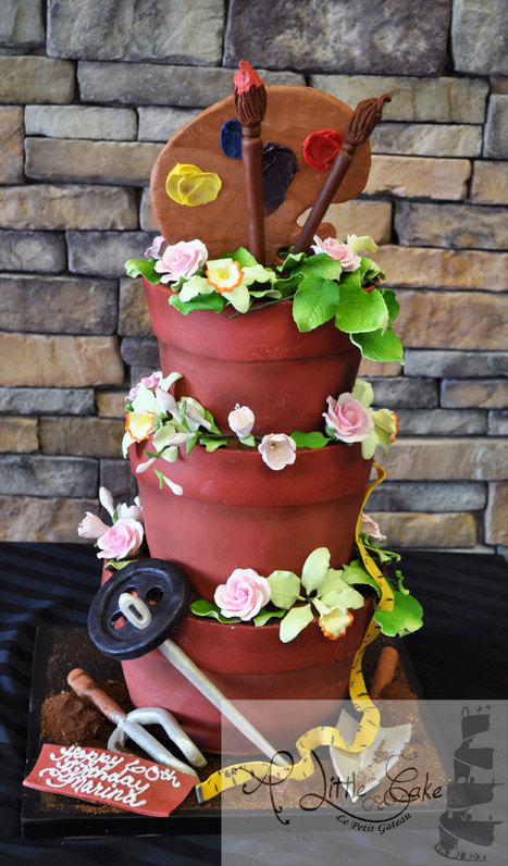 Flower Pot Custom 3D Cake | Custom Cakes for You | Scoop.it