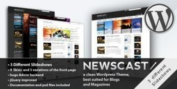 Newscast 4 in 1 v2.0.4 – WordPress Magazine and Blog - Daily Nulled | Daily Nulled WordPress Themes & Plugins | Scoop.it
