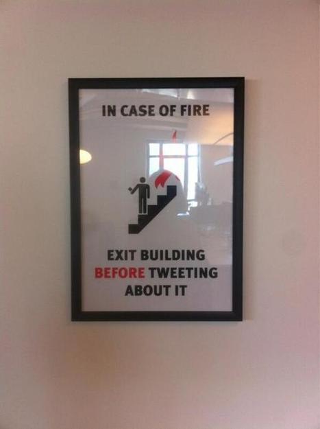 Affiché dans les bureaux de Twitter | Twitter, tweets et retweets | Scoop.it