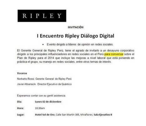 Ripley. Me ESPANTA.   Perú   Scoop.it