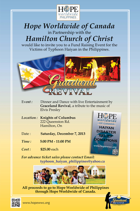 Join Church Of Malphas Father Anthony As We Team Up With Our Canadian Members  For Graceland Revival! A Fundraising event for HOPE in the Philippines | Church Of Malphas Events | Scoop.it