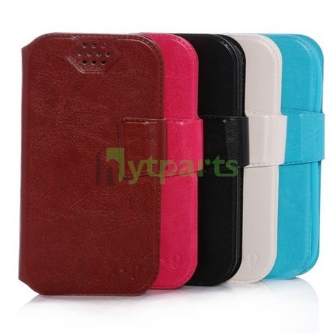 PU Leather Silicone Universal Wallet Case for 4.5 | Compact wallet | Scoop.it
