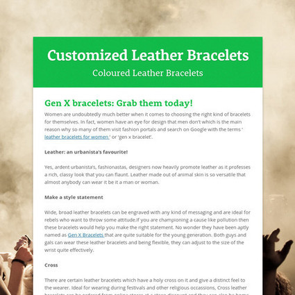 Customized Leather Bracelets | Leather Bracelets for women | Scoop.it