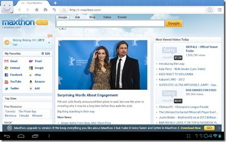A Web Browser Optimized For The 10 Inch Tablet PC « What's On ... | Android Technology | Scoop.it