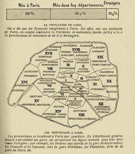 Carte des provinciaux à Paris en 1920 par arrondissements | Rhit Genealogie | Scoop.it