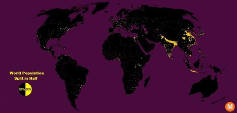 Half the World Lives on 1% of Its Land, Mapped | Geography Education | Scoop.it