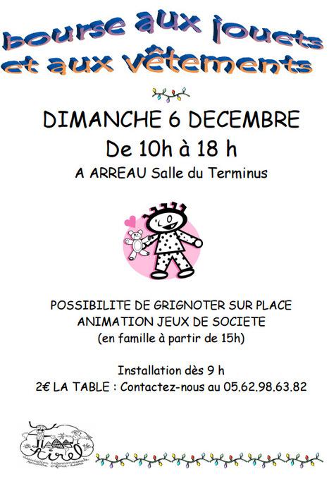 Bourse aux jouets et aux vêtements à Arreau le 6 décembre | AIREL | Vallée d'Aure - Pyrénées | Scoop.it