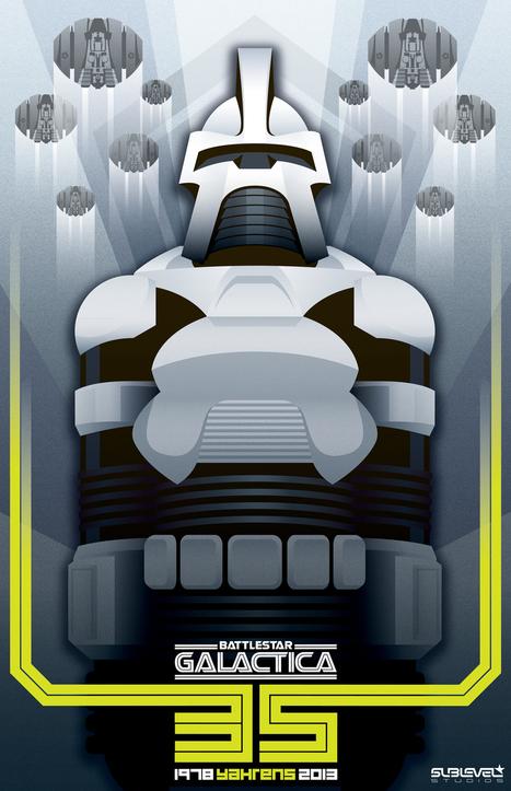 Sublevel Studios – Battlestar Galactica Art Deco Posters | FASHION & LIFESTYLE! | Scoop.it
