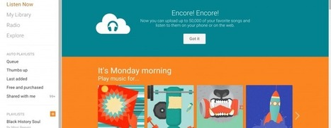 Google Play Music increases free personal cloud storage to 50,000 songs | SpisanieTO | Scoop.it