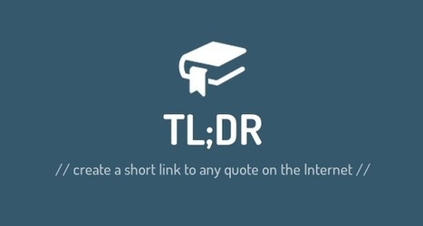 Create a short link to any quote on the Internet | Social Media Magic | Scoop.it