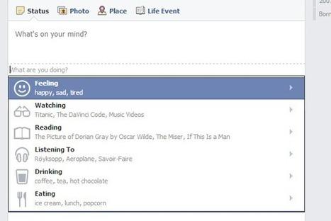 Nouveauté Facebook : comment utiliser les statuts «action» | toute l'info sur Facebook | Scoop.it