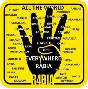 A New Muslim Brotherhood Symbol: R4BIA :: Middle East Forum | #R4BIA | Scoop.it