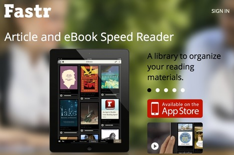 Fastr - ebook reader for iPhone, iPad and web with tools to improve your reading performance | ibooks | Scoop.it