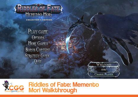 Riddles of Fate: Memento Mori Walkthrough: From CasualGameGuides.com | Casual Game Walkthroughs | Scoop.it