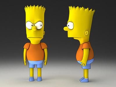 Bart Simpson cartoon 3d | 3D Library | Scoop.it