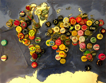 J'aurais bien aimé faire le tour du monde afin de récolter tout ces bouchons de bière! | Blogue De Bières | Scoop.it