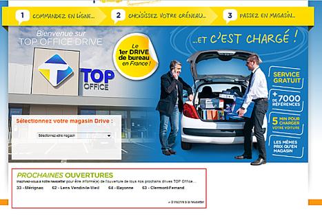 Top Office ouvre simultanément 9 nouveaux drives le 4 avril | pduc | Scoop.it