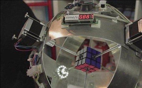 Ρομπότ που λύνει τον κύβο του ρούμπικ σε χρόνο dt! | omnia mea mecum fero | Scoop.it