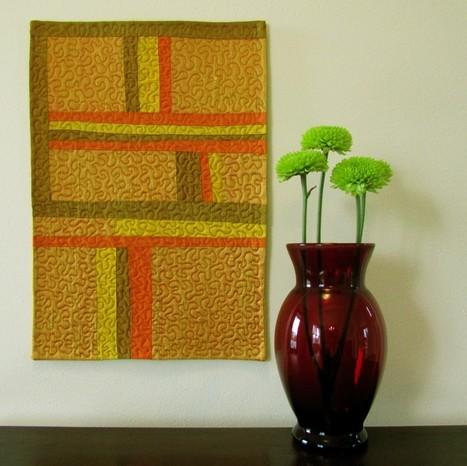 TAFA Team Etsy Pick of the Week: Dupioni Silk Mini Quilt   Art Quilts   Scoop.it