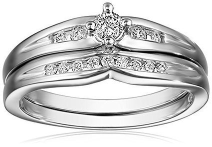 10k White Gold Diamond Bridal Set (1/4 cttw, H-I Color,... | Jewelry Mall | Scoop.it