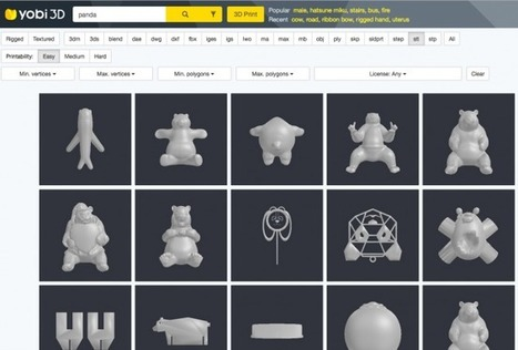 Tous les sites pour trouver des modèles 3D (à imprimer ou non) « | Tout pour le WEB2.0 | Scoop.it