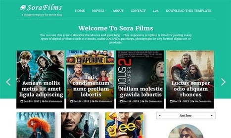 Sora Films Blogger Template | Blogger themes | Scoop.it