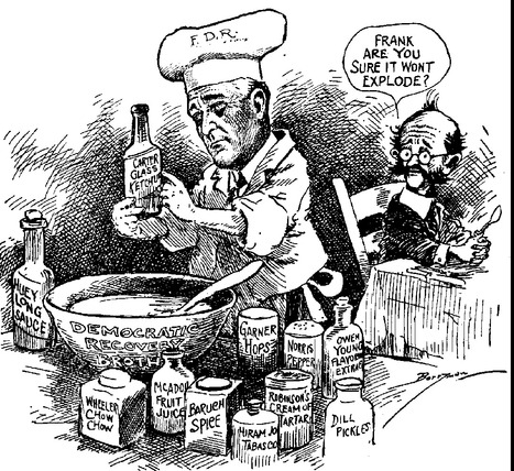 Primary Source #2: Political Cartoon of FDR   President Franklin D. Roosevelt during the 1930s   Scoop.it