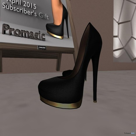 Black High Heels for Slink Feet Subscriber Gift by PROMAGIC | Teleport Hub - Second Life Freebies | Second Life Freebies | Scoop.it